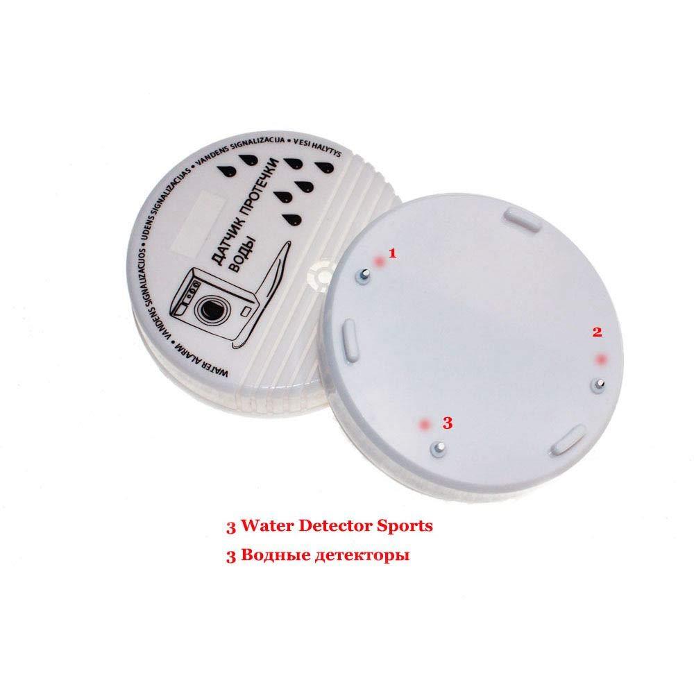 Iycorish Detector Del Sensor De La Alarma De La Salida Del Desbordamiento Del Agua Alarma De Nivel De Agua 90Db Detecci/ón De Inundaciones De Fugas Sistema De Alarma De Seguridad Para Casa