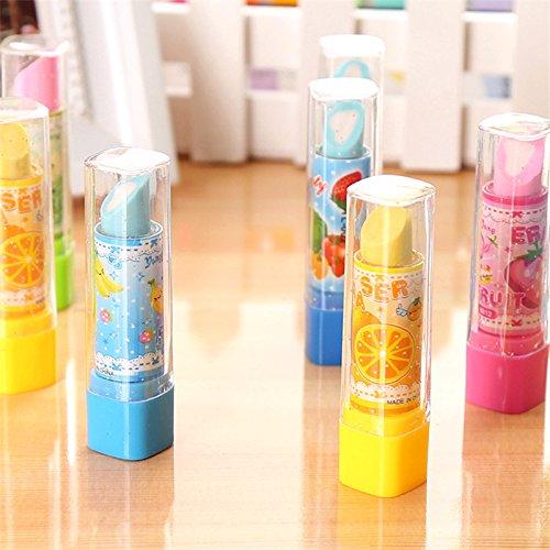 escuela ni/ños Juego de 4 gomas de borrar con forma de pintalabios para oficina Fablcrew regalo papeler/ía cumplea/ños
