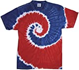 Colortone Tie Dye - Royal/Red Swirl - Small
