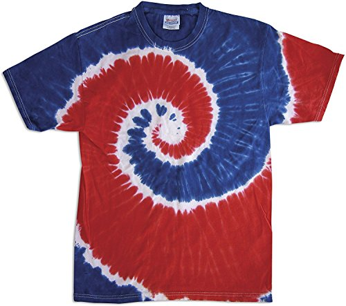 Colortone Tie Dye - Royal/Red Swirl - Small by Colortone