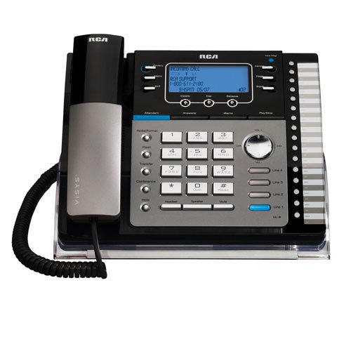 4 Line Integrated Phone System (RCA ViSYS 25425RE1 Four-Line Expandable Speakerphone with Integrated Digital Answering System and Auto-Attendant)
