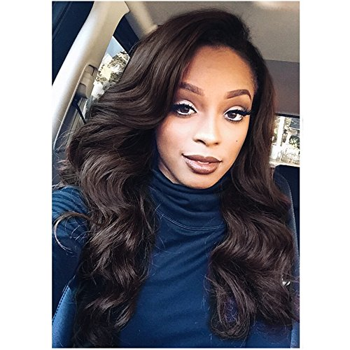 Search : Eayon Hair 6A Virgin Hair Lace Front Wig Brazilian Remy Human Hair Body Wave Wig For African Americans 130% Density 14 Inch Natural Color