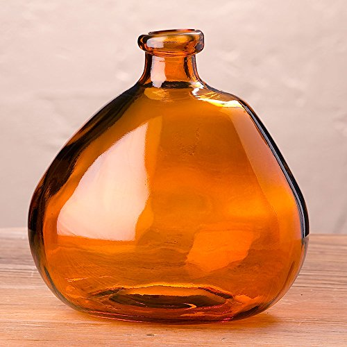 Orange Glass Vase - 3