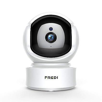 fredi Dome 1080p HD Cámara de vigilancia, Cámara de vigilancia inalámbrica IP Cámara Interior –