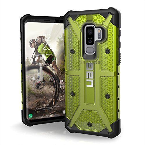 URBAN ARMOR GEAR UAG Designed for Samsung Galaxy S9 Plus [6.2-inch Screen] Plasma Feather-Light Rugged [Citron] Military Drop Tested Phone Case