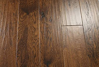 "Elk Mountain Hickory Cast Iron 1/2 x 6-1/2"" Hand Scraped Engineered Hardwood Flooring SAMPLE"