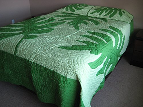 king Size Hawaiian Quilted Quilt Bedding Comforter & 2