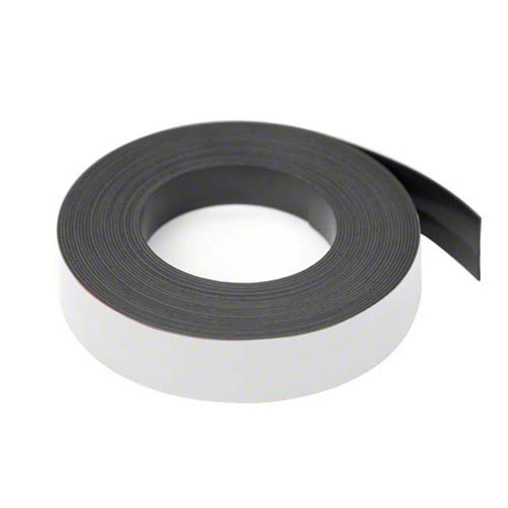 Magnet Expert® Blanc 19mm de large x Bande de ruban magnétique Épaisseur de 0, 76mm (longueurs de 5x 5metre) 76mm (longueurs de 5x 5metre) Magnet Expert® MFL19(MW)-5X5M