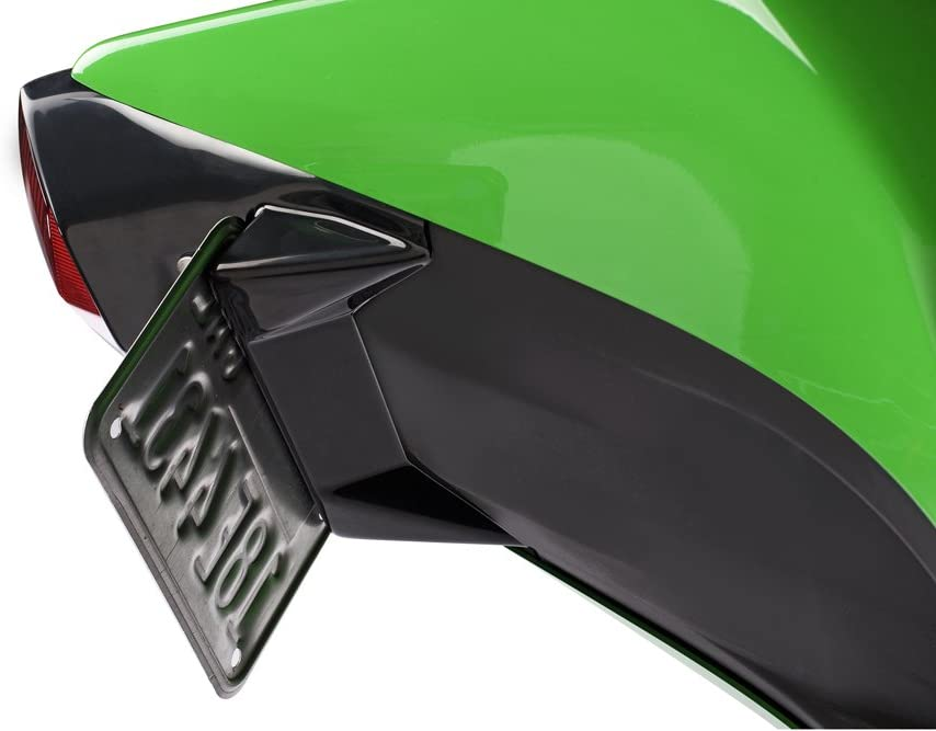 Hotbodies Racing 50802-1001 Gloss Black ABS License Plate Tag Bracket