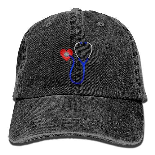 RGFJJE Cowboy Baseball Caps Unisex Hats Stethoscope Listening to Heart Beat