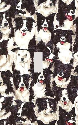 Border Collie Collage Switchplate - Switch Plate Cover