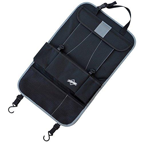 RÜCKENLEHNEN-SCHUTZ % HERBST-AKTION: schwarz von Globeproof - Ideal als Auto-Organizer für Geschäftsreisende oder als Rücksitz-Schoner für Kinder - Mit iPad / Tablet-Fach - Universell passend für jedes Fahrzeug