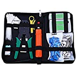 Professional Computer Network Maintenance Tool Kit, Network Installation Tool Kits Network Cable Repair Tool Kit Cable Tester Crimper 50 Rj45 Cat5 Cat5e Connector Plug 10pcs Rj45 Strain Relief Boot