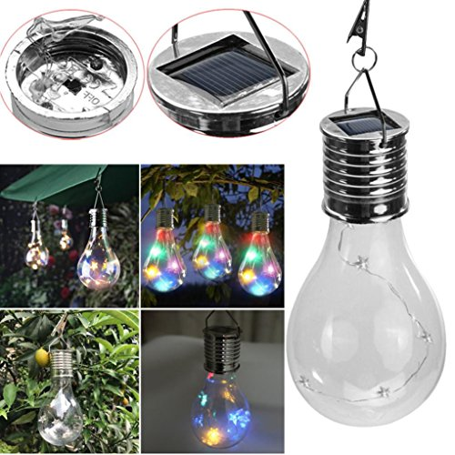 LiPing Color Waterproof Solar Rotatable Outdoor Garden Camping Hanging LED Light Lamp Bulb, Ideal as Night Lights, Kids Children Adult Nightlight,Home Gift Idea (Multi-colored) by LiPing (Image #6)