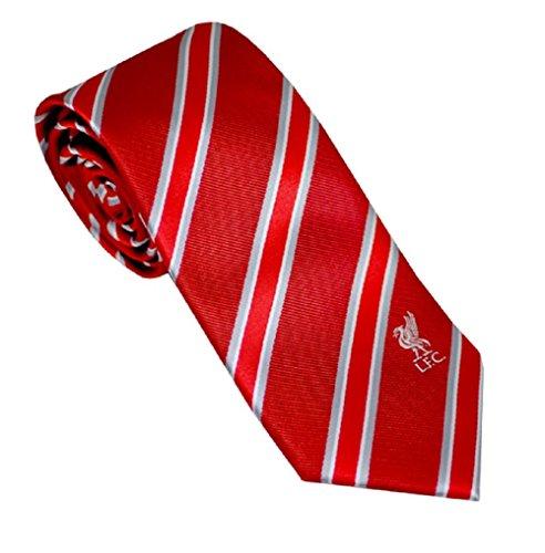 Neue Offizielle Fußball Team Club Krawatte Reihe (verschiedene Mannschaften zur Auswahl.) ideal Qualität Geschenk für jeden Smart aussehende Fan. Einheitsgröße Liverpool FC (Stripe)