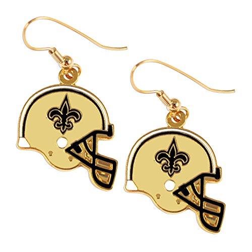Sports Team New Orleans Saints J Hook Dangle Logo Earring Set