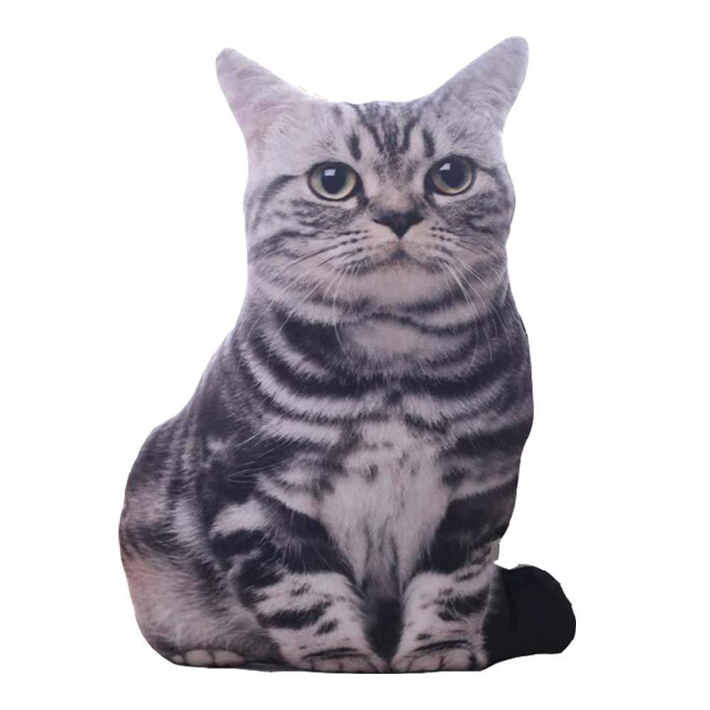 East Majik Animal Pillow Simulation 3D Plush Toy Cute Cat Shape Pillow #3