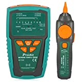 Pro'sKit MT-7028 Network/Coaxial Cables Toner Generator Probe Kit Cable Tester, Wire Tracing Up To 3 Kilometer
