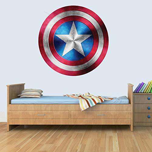 Captain America Shield Superhero Kids Boy Girls Marvel Avengers Bedroom Decal Wall Art Sticker - America Wall Of