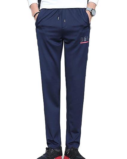 Pantalons De Sport pour Homme Jogging Pantalon Bas De Survêtement  Confortable Sweat Pants Bleu 2XL 2086e6c072bd