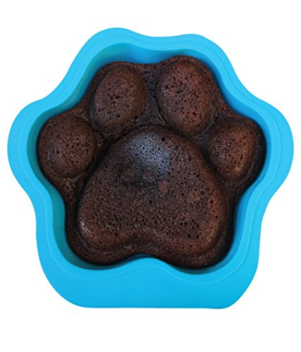 12x12 Bone (Puppy Paws and Bones Large Paw Edition Silicone Dog Paw Shape Cake Pan 12X11X2.5 Inches)