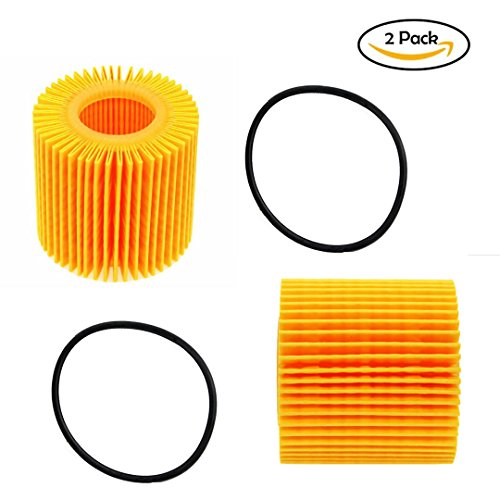Genuine OEM Oil Filter - 04152-YZZA6 Fit for TOYOTA Prius Corolla Pontiac Vibe 1.8 LEXUS CT200h ( QTY 2 )