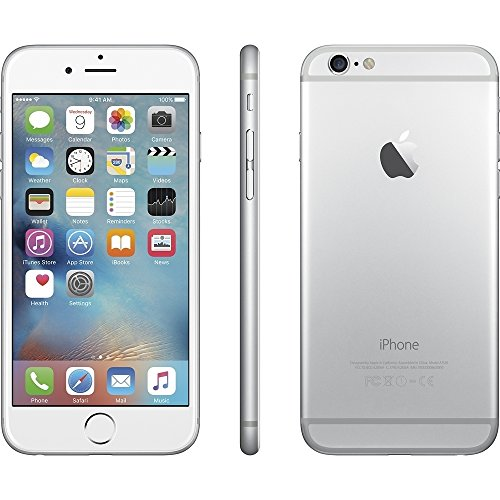 Apple iPhone 6 64GB 4G LTE Verizon,Silver (Renewed) ()