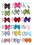 PICK 6 HAIR BOWS Made with VELCRO® brand fasteners for Baby Girl - BEST BABY SHOWER GIFT - Small Bows Traditional Mini Bows Blue White Green Yellow Hot Pink Light Pink Brown Red Lavender YOU PICK 6