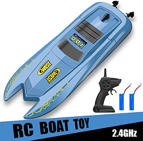 RC Boat Remote Control Boats for Pools and Lakes – H126 Mini Racing Boats 2.4GHz 10km/h High Speed Remote Control Boat for Kids Adults Boys Girls
