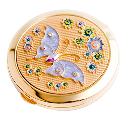 light in high-end luxury products [Makeup mirror] Portable folding mirrors on both sides Keep giving your girl a gift-B by MYITIAN (Image #1)
