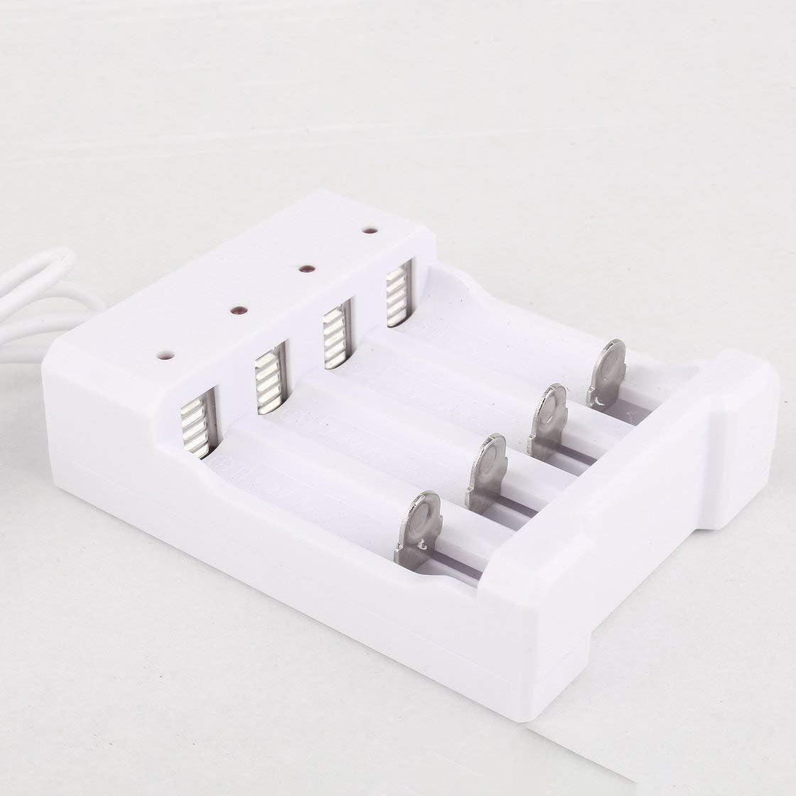 Jessicadaphne Chargeur de Batterie pour Piles AA AAA Chargeur de Batterie 4 Ports avec Prise USB Accessoires pour Outils /électriques universels