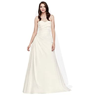 Strapless A-Line Drop Waist Wedding Dress Style WG3743, Ivory, 12 at ...
