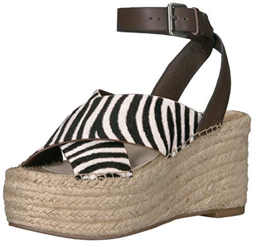 - Dolce Vita Women's CARSIE Wedge Sandal Zebra Calf Hair 8 M US