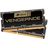 Corsair CMSX8GX3M2A1600C9 Vengeance High Performance Kit di Memoria per Notebook da 8 GB (2x4 GB), DDR3, 1600 MHz, CL9, SODIMM, Nero