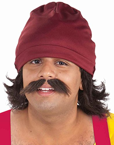 Chong Halloween Costumes (Forum Novelties Men's Cheech Kit with Cap Wig and Moustache, Multi, One Size)