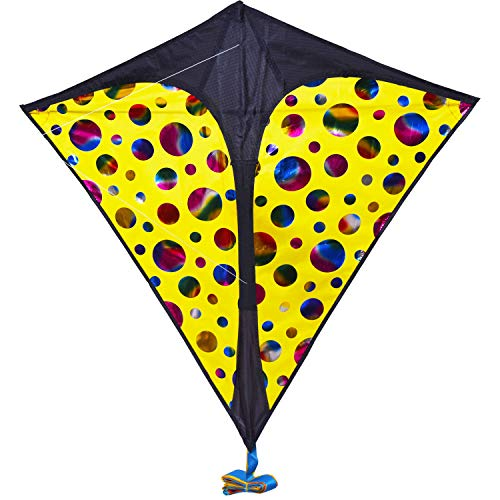 Zhuoyue Diamond Kite for Kids and Adults Easy to Fly Beginner Kites with Long Tail ,Easy Flying Outdoor Toys Kite for The Beach Park and Garden