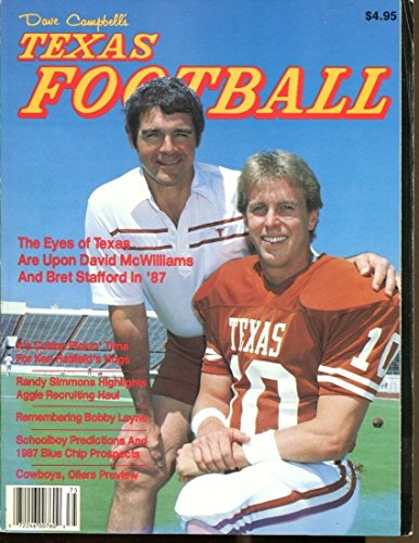 1987 Dave Campbell's Texas Football Annual Magazine McWilliams Stafford 41807 by Headline Sports