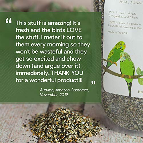Dr. Harvey's Our Best Parakeet Food, All Natural Daily Blend for Budgies (4 Pounds)