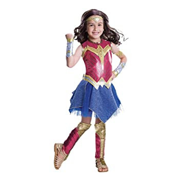 71628f3b4231a Costyle Leatherette Wonder Woman Cosplay Dress Halloween Costume for Adult  Kids