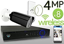 Wireless 4MP IP 2.8-13.5mm Motorized Bullet (8) Camera Kit (Ninja)