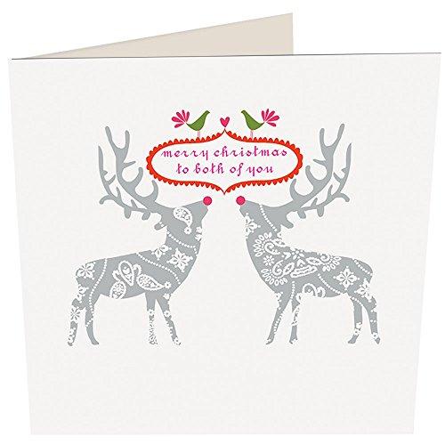 caroline gardner to both of you deer christmas card - Deer Christmas Cards