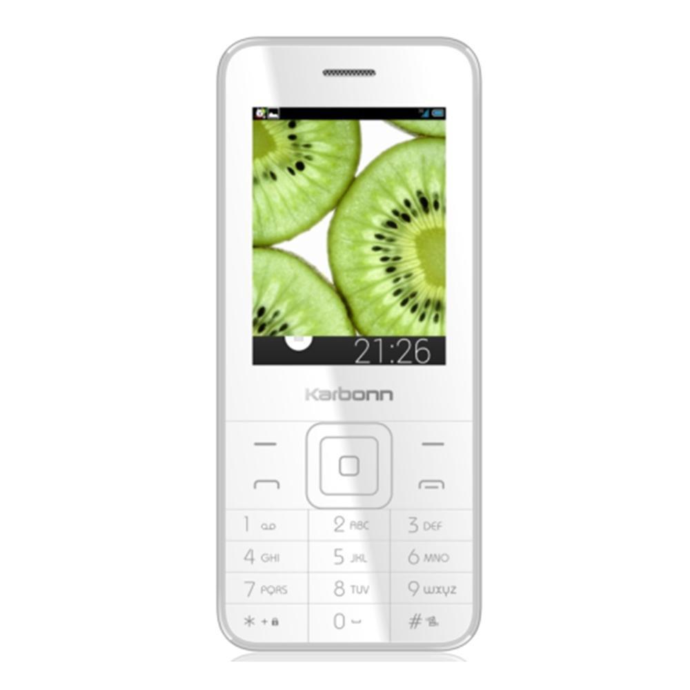 d010d4d1c17c0 Karbonn K-Phone 1 (White-Silver)  Amazon.in  Electronics