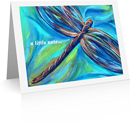 Dragonfly Note Card - Dragonfly Note Cards (12 Foldover Cards and Envelopes) Butterfly Thank You Cards