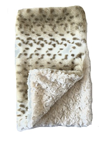 GoodDogBeds 60 by 72-Inch Faux Fur Dog Blanket, X-Large, Lynx by GoodDogBeds