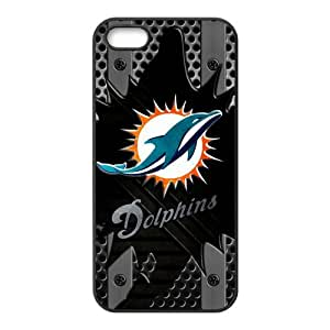 Popular Design NFL Miami Dolphins High Quality Inspired Design TPU Protective cover For Iphone 5 5s iphone5-NY756 by icecream design