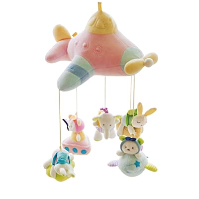 MAJINCGJ Newborn Baby Toy Baby Bed Bell Fabric Plush Music Rotation 0-3-6-12 Month Baby Bed Hanging Bedside Bell Rattle (Color : Download Version of Music) : Baby