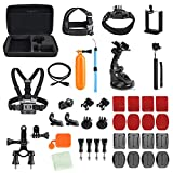 Toughsty Action Camera Accessory Outdoor Sports Essentials Kit for GoPro Hero 5 4 3 2 1