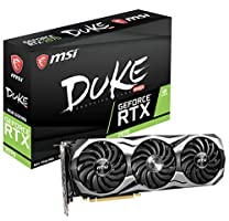 MSI Gaming GeForce RTX 2070 256-bit HDMI/DP/USB Ray Tracing Turing Architecture Graphics Card (RTX 2070 Duke 8G OC)