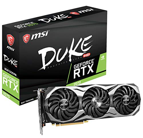 Price comparison product image MSI Gaming GeForce RTX 2070 8GB GDRR6 256-bit HDMI / DP / USB Ray Tracing Turing Architecture HDCP Graphics Card (RTX 2070 Duke 8G OC)