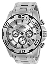 Invicta Men's Pro Diver Quartz Watch with Stainless Steel Strap, Silver, 26 (Model: 22317-I)